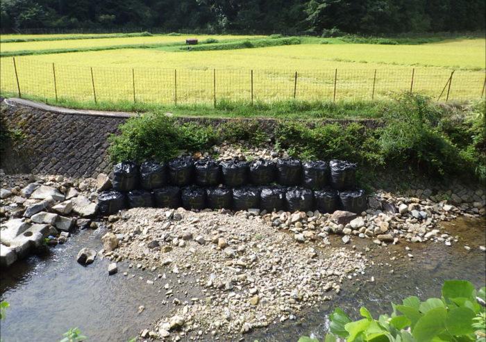 (一)円山川水系 米地川 河川災害復旧工事(甲347号) 工事前