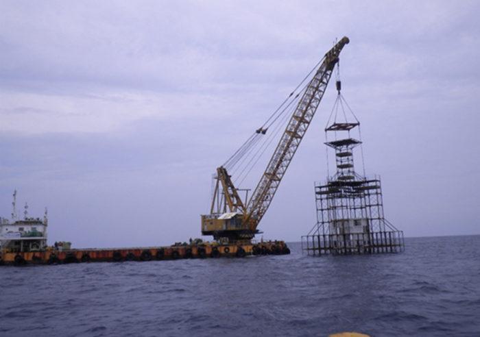 但馬沿岸中地区大型漁礁設置工事 工事後