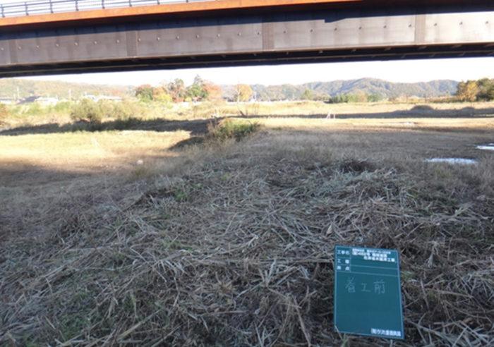 (国)482号鶴岡道路右岸低水護岸工事 工事前