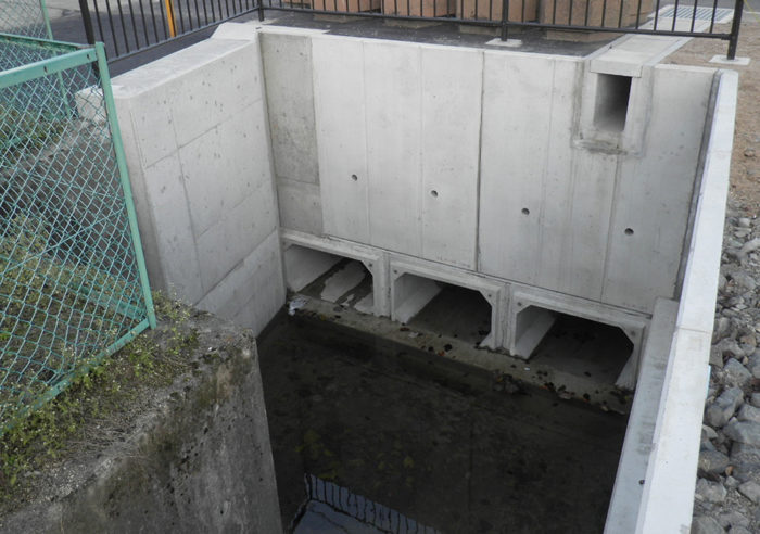 稲葉川土地区画整理事業 排水構造物設置工事 工事後