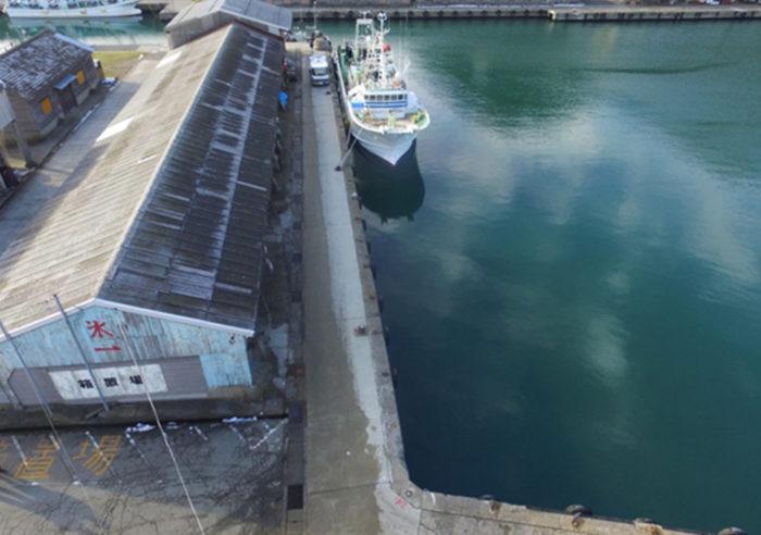 浜坂漁港係留施設付属設備設置工事 工事前