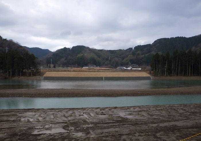 (二)矢田川水系矢田川河川災害復旧工事(甲第167号) 工事後